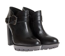 Ankle Boots Mit Blockabsatz Schwarz