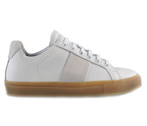 Low Sneaker White Suede
