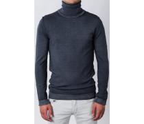 Rollkragen-Pullover Anthrazit