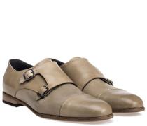 Monk-Strap Leder Schuhe Beige