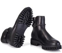Half-Boots Leder Schwarz