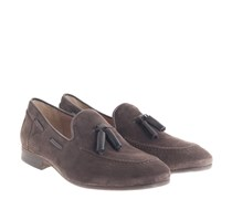 Pierre Suede Tassel Loafer Brown