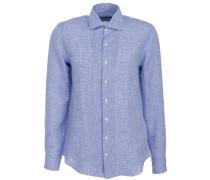 Leinen Hemd Blau Weiss