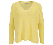 Wax V-Neck Pullover Gelb