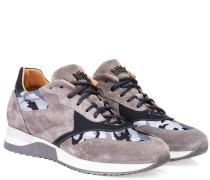 Ledersneaker 'UK' Camouflage Grau