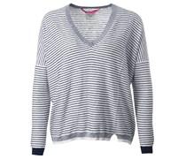 Oversized Stripe Sweater Blau Weiß