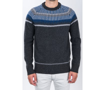 Norweger-Pullover 'Conner-T' Schurwolle Grau