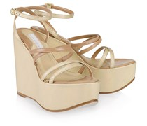 Metallic High Wedge Golden Shine