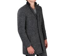 Wollmantel Kurz Grau