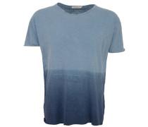 Raw Hem T-Shirt Dip Dyed Blue