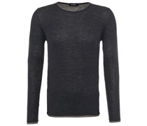 Doubleface Pullover Grau/Taupe
