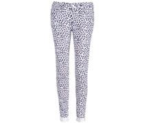 Paradise Slim Leopard Jeans White Blue