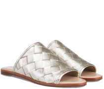 Blaire Metallic Mules Light Gold