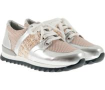 Vegane Sneaker Silber Beige