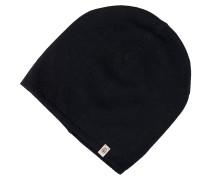 Beanie-Mütze Kaschmir Schwarz