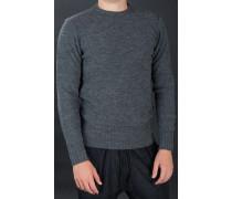 Wollpullover Rundhals Grau