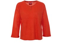 Oversized Cashmere Sweater Hot Coral