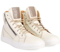 High-Top Leder Sneaker Beige