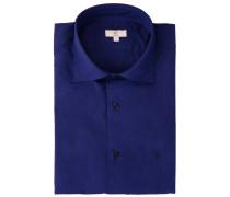 Baumwollhemd Slim Fit Blau