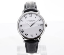 Toccata 39 Black Leather Strap White Dial 5488-STC-00300