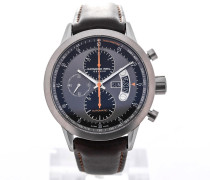 Freelancer Automatic Chronograph 45 Brown Leather Strap Orange Details 7745-TIC-05609