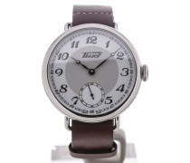 Heritage 1936 Silver Dial Brown Leather Men's Watch T101.405.16.012.00