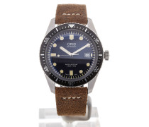 Divers Sixty-Five 42 Date Brown Leather 01 733 7720 4055-07 5 21 02
