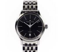 Les Classiques Date Automatic 38 Black Dial Stainless Steel LC6017-SS002-330