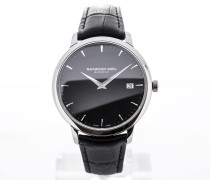 Toccata 42 Black Leather Strap Black Dial 5588-STC-20001