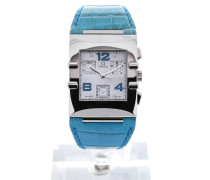 Constellation Quadra 34 Quartz Blue Leather 1841.76.61