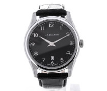 Jazzmaster Thinline Quartz Black Dial H38511733