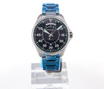 Khaki Aviation 42 Day Date Blue Dial H64615145