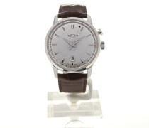 50s Presidents' Watch 42 Silver Guilloche Chestnut Strap 110151G20.BAL128
