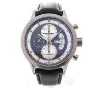 Freelancer Automatic Chronograph 45 Black Leather Strap Red Details 7745-TIC-05659