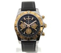 Chronomat 44 Gold Bezel Black Dial Chronograph CB011012/B968/131S