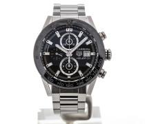 Carrera 43 Chronograph Steel Bracelet Calibre Heuer 01 CAR201Z.BA0714