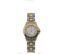 Linea 35 Silver Dial Yellow Gold Ladies Quartz M0A05984