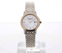 Tradition Stainless Steel Yellow Gold Mother of Pearl Dial 5966-STP-00995