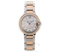 Ballon Bleu 28 Steel & Gold Diamond Quartz WE902076