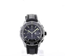 Aquaracer Chronograph Black Rubber Strap Black Dial CAK2111.FT8019