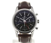 Transocean 43 GMT Black Dial Chronograph AB045112/BC67/437X