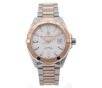 Aquaracer Automatic 40,5 Silver Dial Red Gold Details WAY2150.BD0911