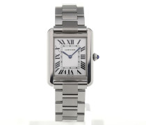 Tank Silver Dial Ladies Quartz W5200013