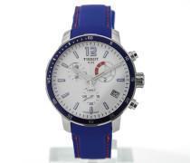 T-Sport Quickster Chronograph Football Blue T095.449.17.037.00