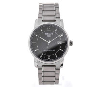 Titanium 40 Steel Powermatik Black Dial T087.407.44.057.00