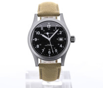Khaki Field Officer 38 Handwinding Black Dial H69419933