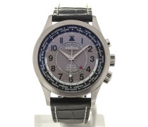 Aviator GMT Pilot 42 Silver-toned Dial 100108.335C/BN