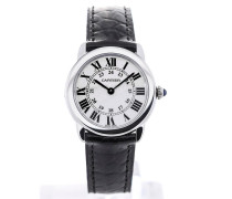 Ronde Solo Small Quartz 29,5 Black Leather Strap W6700155