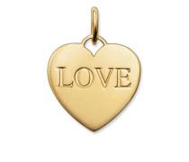 """Damen Anhänger Herz """"Love"""", Sterlingsilber, Glam & Soul"""