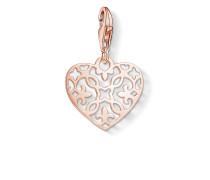 "Damen Charm-Anhänger ""Ornament Herz"", Sterlingsilber Roségold vergoldet, Glam & Soul"